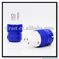 Hi-End US Plug Fiberglass Rhodium plated US Power Plug