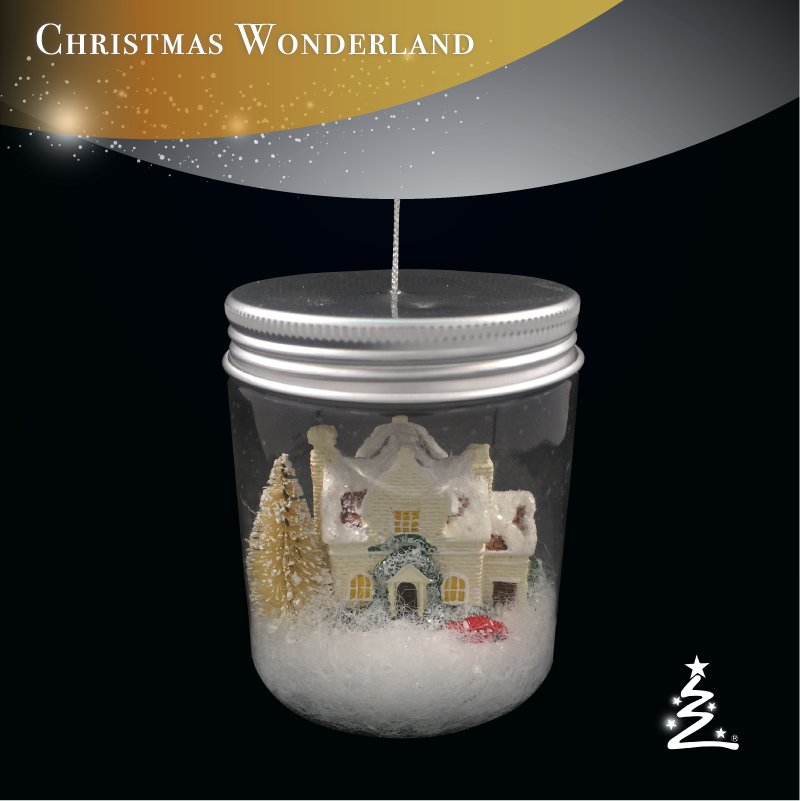PET Bottle Snow White house for christmas decoration