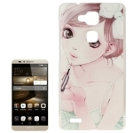 Pretty Girl Pattern Plastic Protective Case for Huawei Ascend Mate 7
