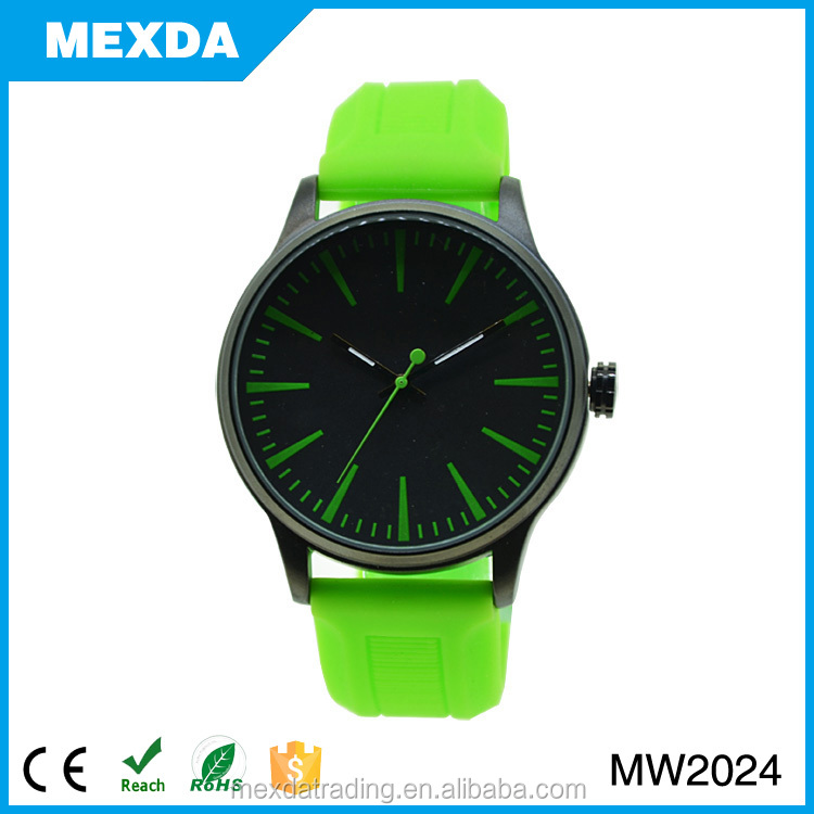 fashion wholesale japan movt unisex silicone watch
