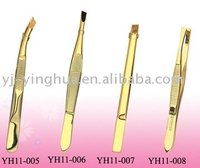 Gold beauty tweezers