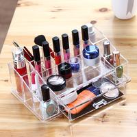 2016 beauty acrylic makeup organizer / clear cosmetic display / mac makeup organizer