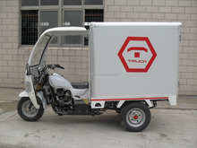 Hot Sale Three Wheel Cargo Tricycle With Cloesd Box And Front Carbin Motor For Sale