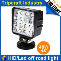 "super bright 4"" inch 48w led mechanic work light offroad,waterproof led tractor working lights,12v 24v led off road light"