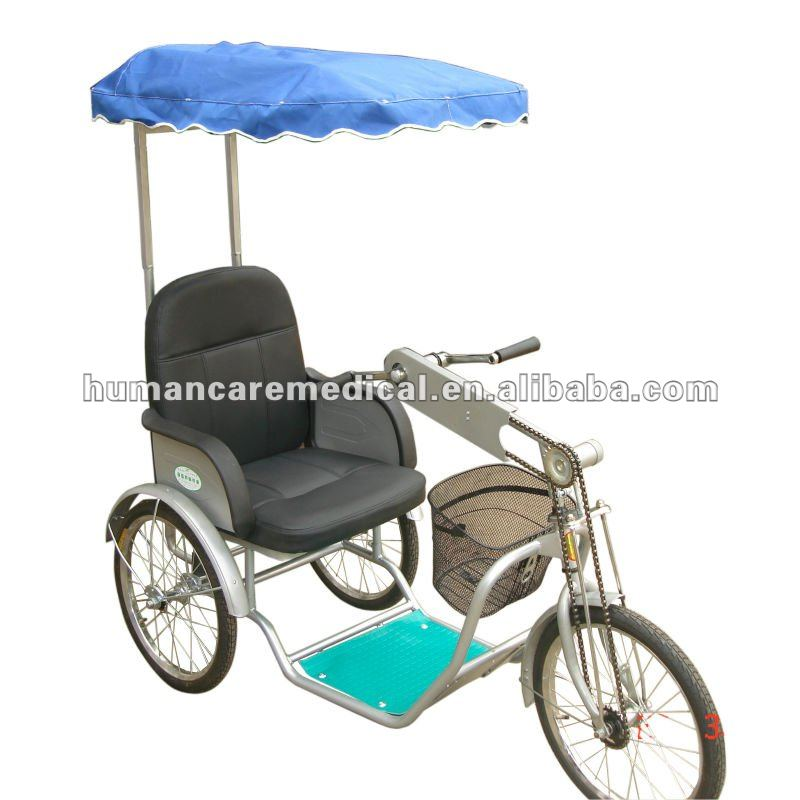 Ce Manual Tricycle Wheelchair With Sunshade hot sale in 2012 for Christmas