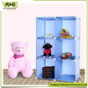FH-AL0023 plastic cube storage furniture interlocking blue clear cabinet style