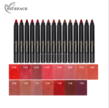 Nice face branded <strong>cosmetics</strong> 15 colors matte lipstick pen factory wholesale
