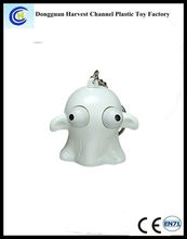 Eye pop out soft PVC squeeze cheap advertising keychains for Halloween promotional toys