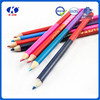 2016 Wholesale slap-up double-end wood color pencil with customized logo for art