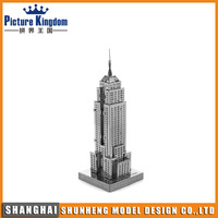 Hot selling famous building 3d metal puzzle in stock moq 1