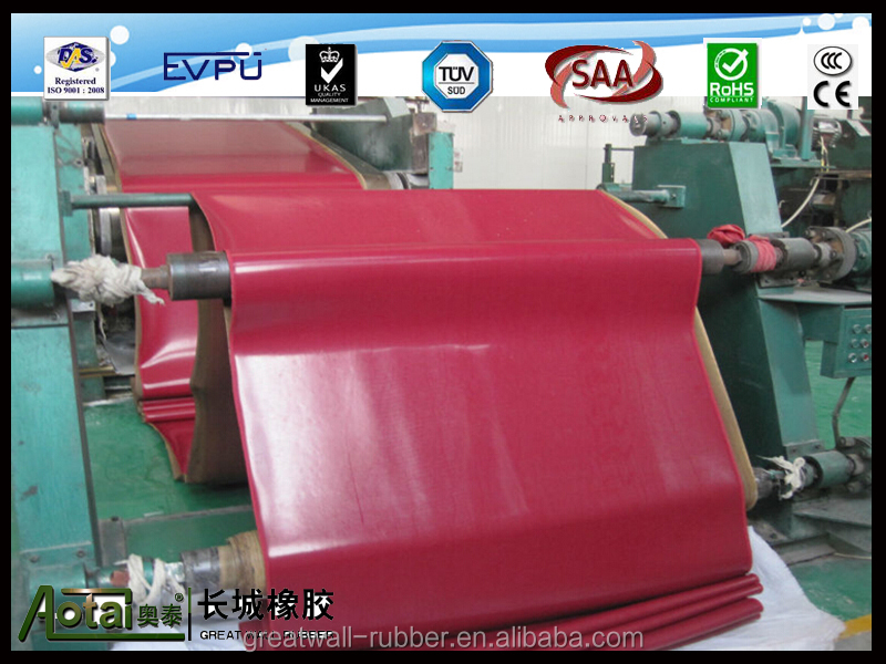 Good wear resistance red Natural rubber sheet/red rubber lining/Abrasion rubber sheet for mining equipment