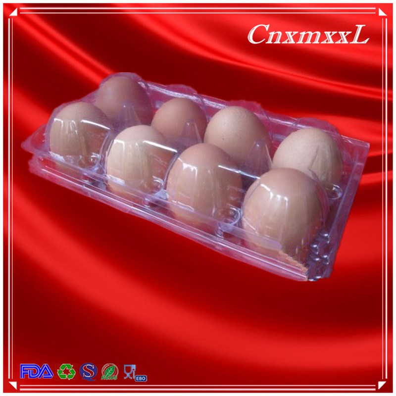 Egg box Plastic clear tray eggs 8 Lowest Price transparent carton made in China
