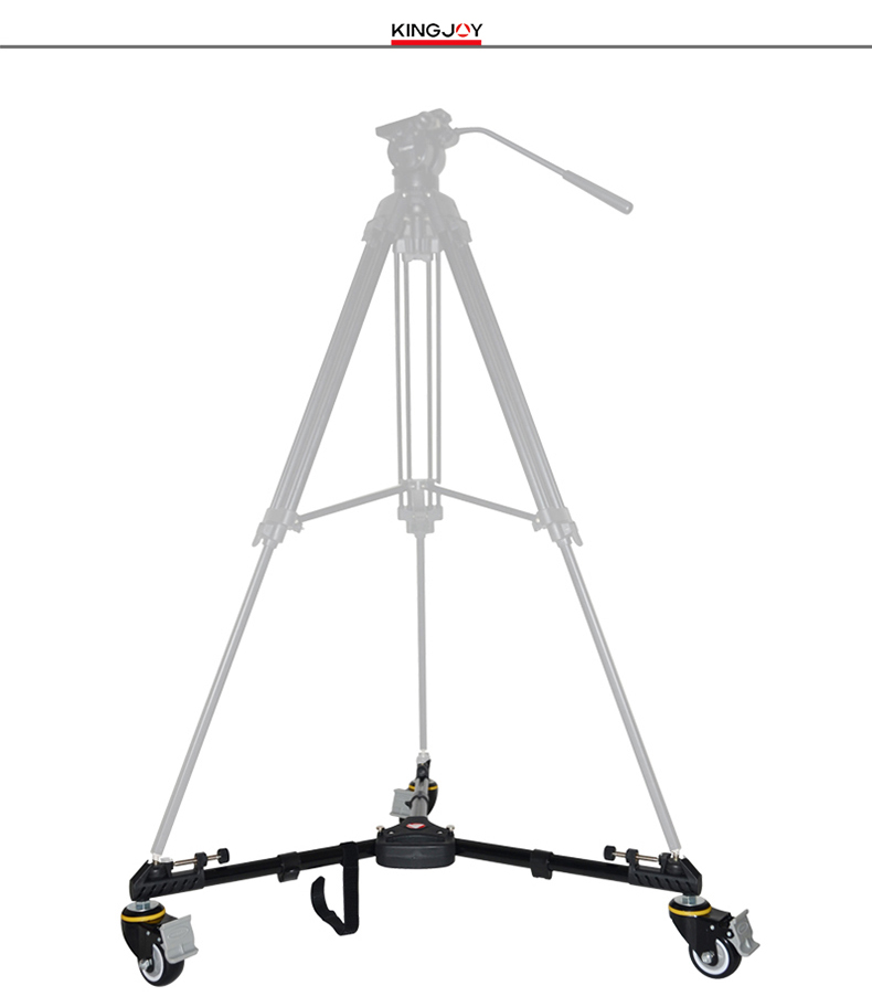 Kingjoy VX-600D heavy duty 3-wheel Slider Track Camera Video Deluxe Tripod Dolly for broadcasting Shooting