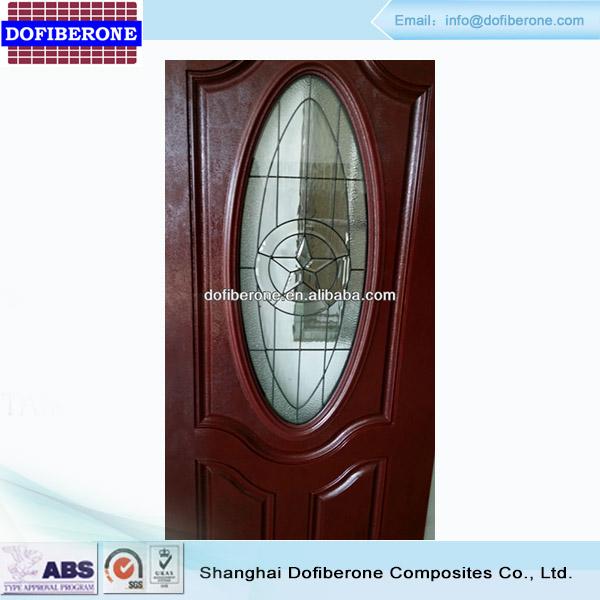 Frp Grp Fiberglass Smc Mahogany Woodgrain Texture Door And