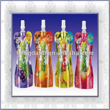 Stand up spout pouch for drink packaging/printed aluminum foil pouch