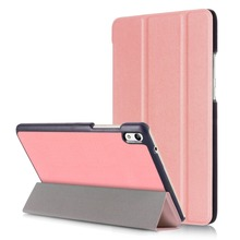 Bookcase style tri fold shell Flip cover for 8.0 HuaWei Pad Honor 2 tablet Cover Leather Case