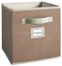 Non-woven fabric storage boxes ,storage Fabric Drawer with small label holder