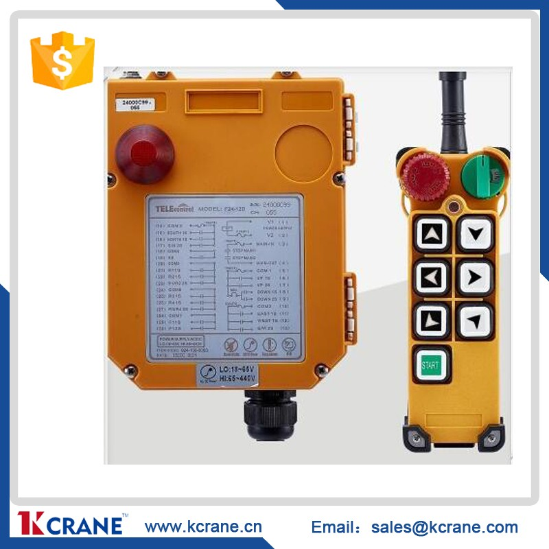 Uting 2016 new products F24-6S wireless remote motor control switch, radio control crane, industrial crane radio remote control