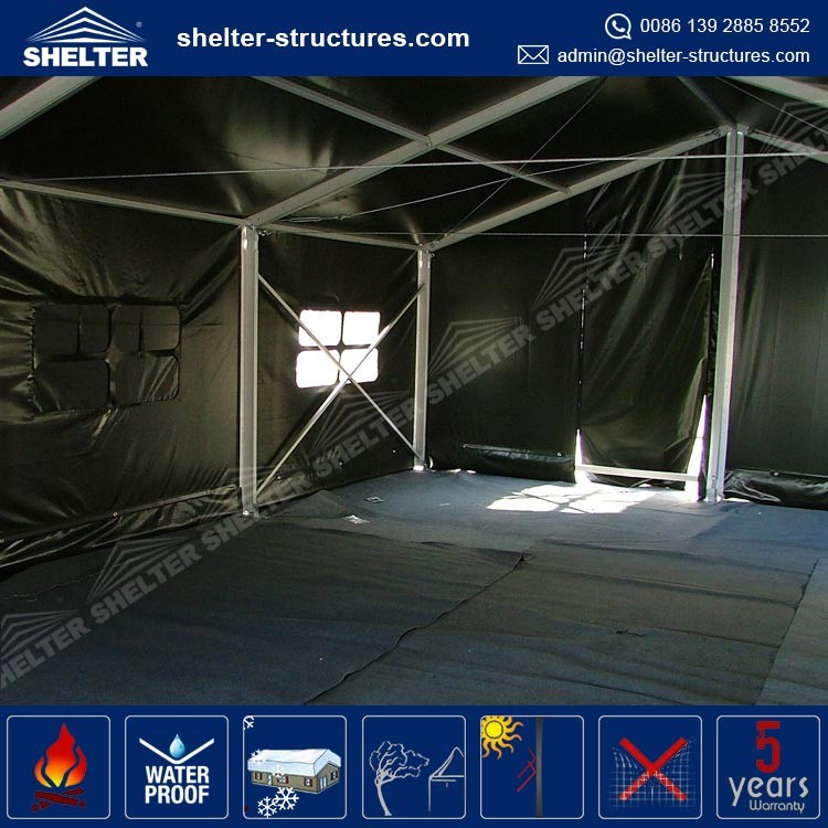 High Quality Used Army Tents Winter Tent with Large Aluminium Frame PVC fabric cover