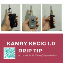 high quality electric cigarette kamry kecig 1.0 drip tip for 510vape pen cartridge