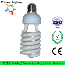 energy saving bulbs 20w half spiral cfl lamp light cfl bulb raw material 6400K energy efficient heat lamp