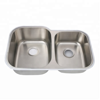 304 stainless steel double bowl cupc commerical sink 8252AR