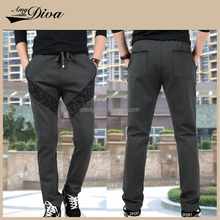 Wholesale sweatpants french terry slim fit elastic sweatpants jogger and sports casual mens pants