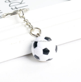 Make Magic 8 Ball keychain /Custom Plastic Soccer Ball Key Chain Maker/Wholesale pvc Soccer ball key holder
