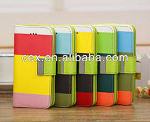 Multi Color Luxury Wallet Card Holder PU Leather Phone Case For Apple IPhone 5C