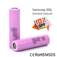 Hot-selling 3000mAh 3.7V Samsung 30Q cylindrical rechargeable 18650 Li ion Battery