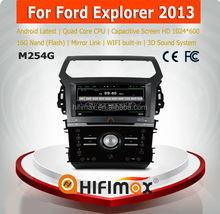 HIFIMAX Android car dvd for ford explorer radio 2013 android car dvd player with quad Core CPU 16G HD1024*600 capacitive screen