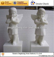 Stone Sculpture Carved white Marble Statues Child Statue