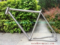 titanium bike frame taper head tube titanium touring bike frame inner line routing Ti cyclocross bike frames