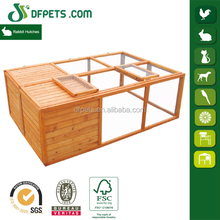 Easy Clean Wooden Foldable Rabbit Cage