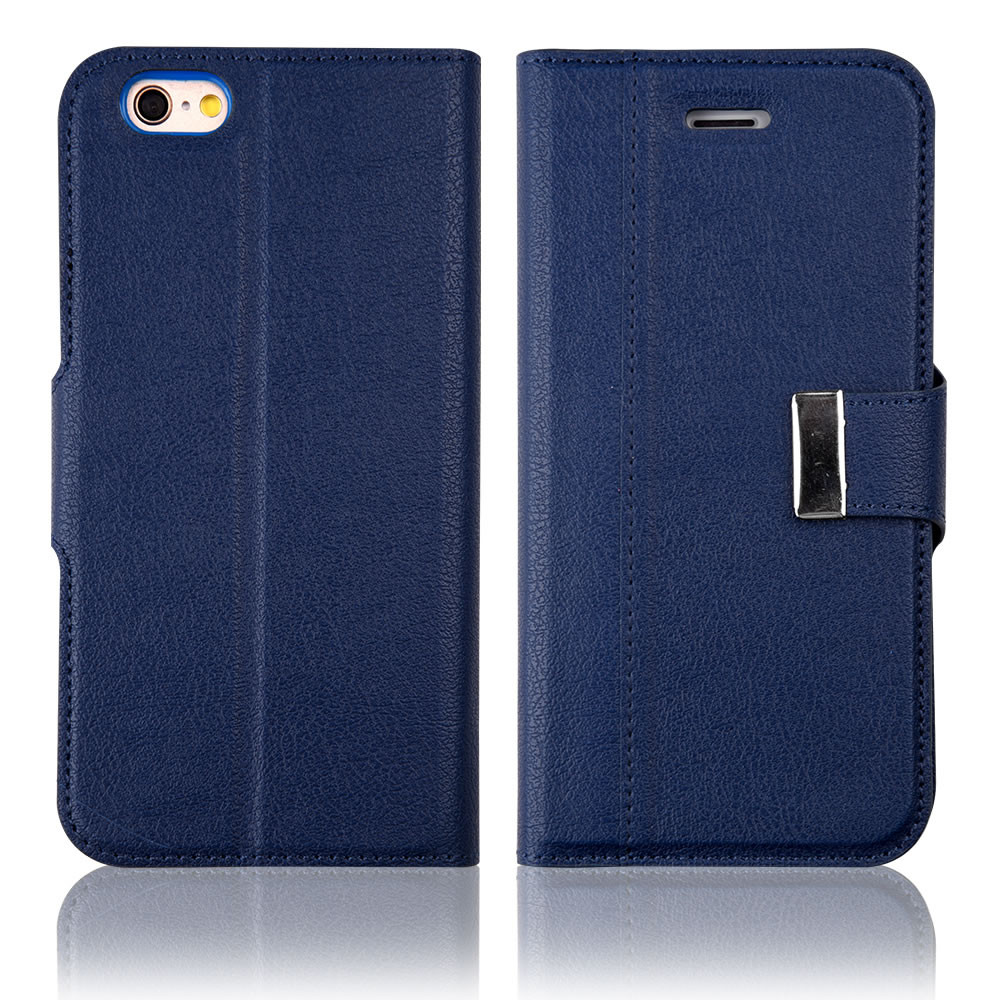 C&T Metal Megnetic Closure Wallet Leather Purse Flip Card Pouch Stand Cover Case For Apple iPhone 6 4.7inch