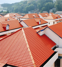 Free sample afford colorful stone-coated metal steel roofing tile