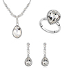 Newest best gift 18k white gold woman jewelry set with swarovski element crystal
