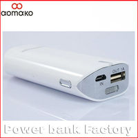 Global popular ! manual for power bank W808 mini usb power bank 5600Mah Flashligts external battery charger