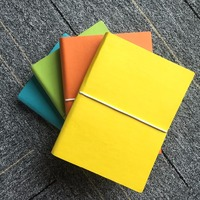 Soft Pu leather colorfull paper diary note book