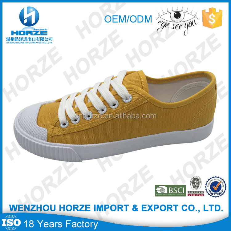 New Design Rubber Canvas Shoes Men Casual