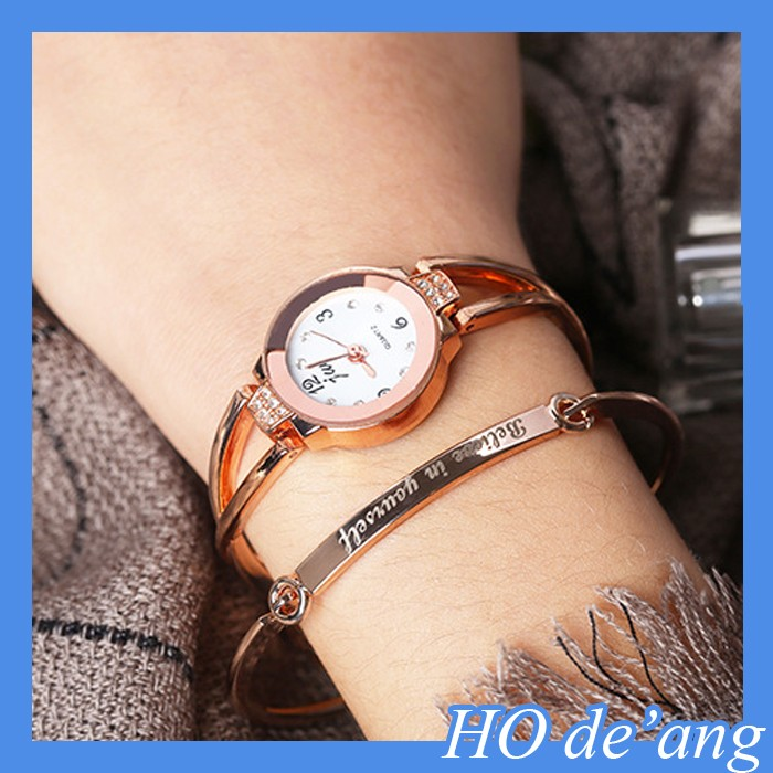 HOGIFT 2017 Women Geneva Watches Stainless Steel Diamond Lady Watch