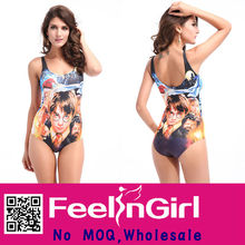 wholesale film figure printed on sale hot sexy girl bathing suit