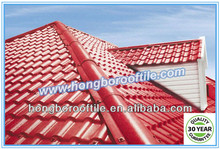 asa coated synthetic resin plastic roof tile