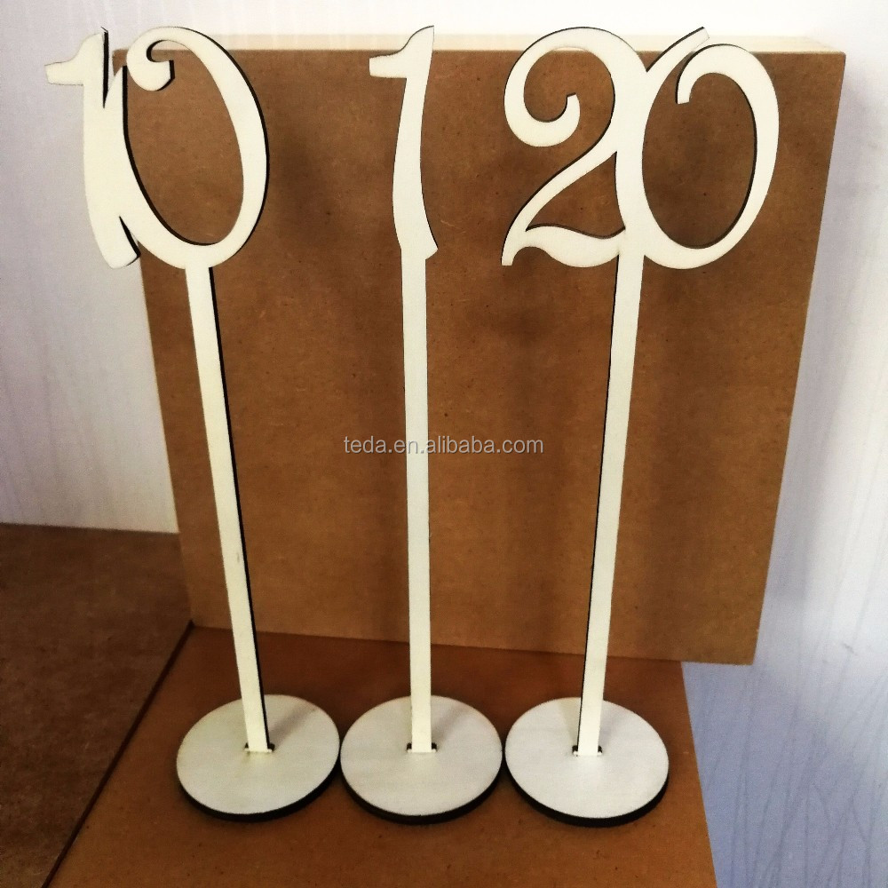 custom high quality wooden table numbers wedding