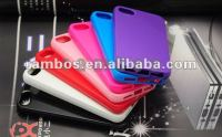 Mobile Cell Phone Case High Gloss Colorful Solid TPU Soft Gel Skin Case for iPhone5 5G