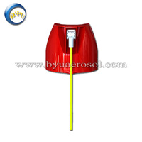 hot sales plastic cap and tube used for insecticide spray cans