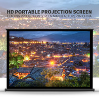 front office equipment glass projection film tabletop mini screen