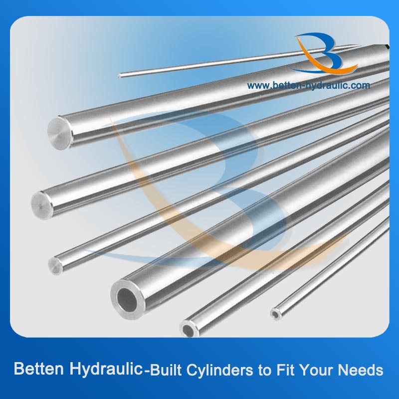 Telescoping stainless steel tubing hydraulic cylinder pipe