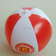 24inch branded beach balls white and red color for promotion