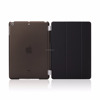 Detachable Rubberized Hard Smart Cover And Back Case for iPad 2 3 4 Air Mini Pro case, brown, khaki, black